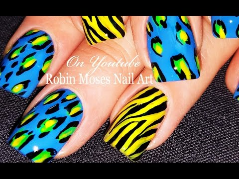 Animal Print Nails | DIY Zebra and Leopard Nail Art Design For Beginners Tutorial