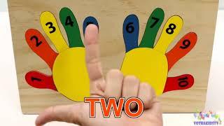 Bàn tay học đếm | Family Finger đồ chơi bằng gỗ