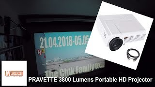 Pravette HD 3800 Lumens projector amazon UK review
