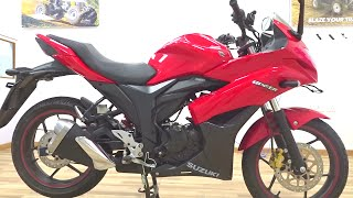 #Bikes@Dinos: 2016 Suzuki Gixxer SF Rear Disc Walkaround Review (Red, Blue colours)