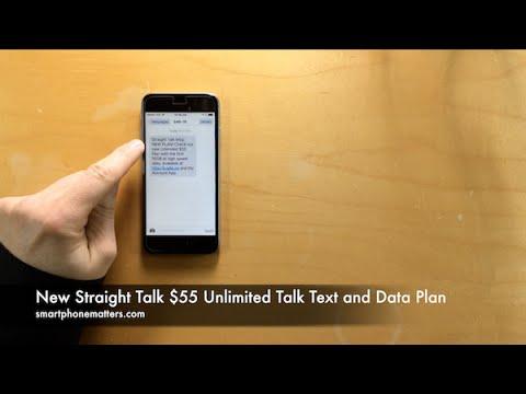 New Straight Talk $55 Unlimited Talk Text and Data Plan