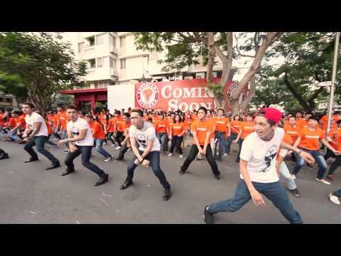 Popeyes Flashmob - 365 Và Tăng Thanh Hà Nhảy Chicken Dance video