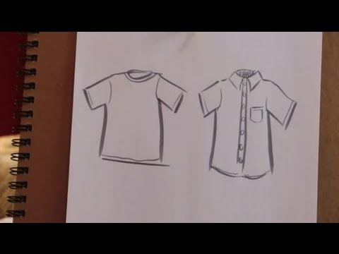 How to sketch a shirt on paper various crafts youtube for Ro draw