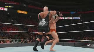 WWE 2K18 - Un combat handicap à 1vs 2 aléatoire !