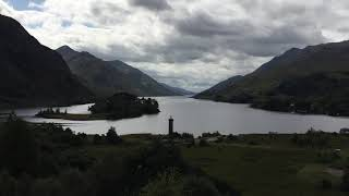 01.09.2017, Scotland, Glenfinnan Monument, Air Force Plane flying over