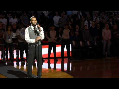 Bryan Bautista, Barclay's Center Usher, Sings National Anthem At Nets Game