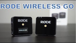Rode Wireless Go Microphone Unboxing with Audio Tests