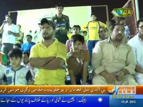 Sharjah tape ball night cricket 2015 by khyber news dubai