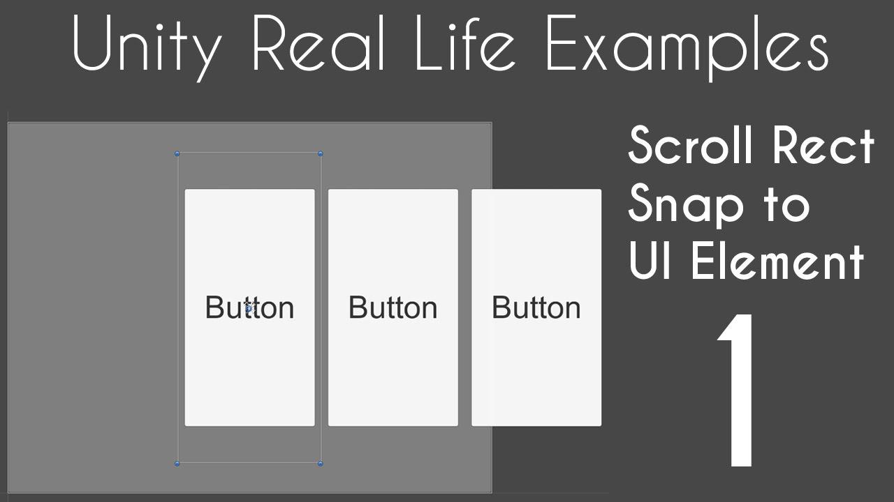 Unity 5 ui Tutorial Scroll