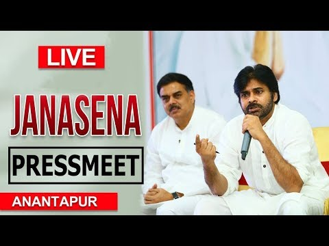 LIVE | JanaSena Chief Pawan Kalyan Press Meet | AnantaPur | JanaSena Porata Yatra | TopTeluguMedia
