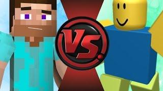MINECRAFT STEVE vs ROBLOX NOOB! Cartoon Fight Club Episode 81