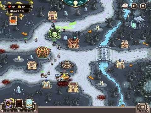Kingdom Rush Frontiers Walkthrough Level 20 Desecrated Grove [Veteran] [3 Stars]