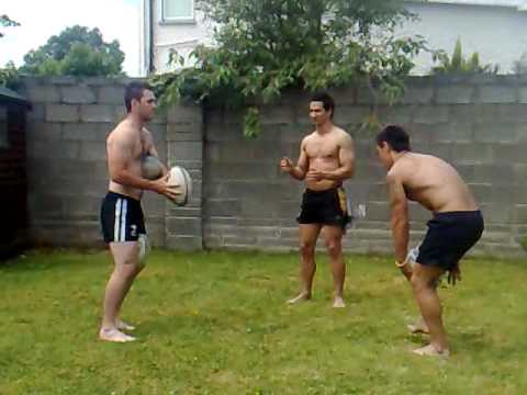 Amazing Rugby skills game ( 4 ball ) NOT FOR AMATEURS!!