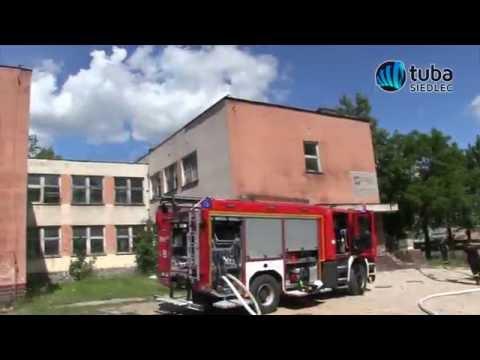 """Pożar w przedszkolu - manewry Straży Pożarnej """"Przedszkole 2016"""" w Siedlcach"""