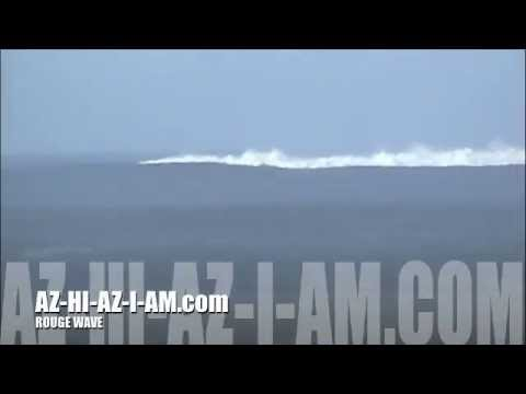 100ft REAL Rogue wave!! AZHIAZIAM.com