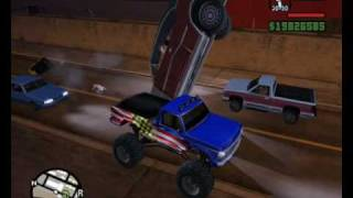 GTA San Andreas - Monster vs passenger car - part 2