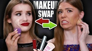 SWITCHING MAKEUP WITH MY BEST FRIEND!