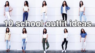 10 SCHOOL OUTFIT IDEAS // Spring + dress code approved