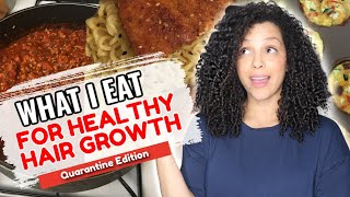 What I Eat in A Week for HEALTHY HAIR GROWTH!!! (QUARANTINE EDITION)