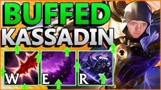 WTF RIOT?! THESE KASSADIN BUFFS ARE INSANE!! NEW BEST MID LANER IN PATCH 8.13?! - League of Legends