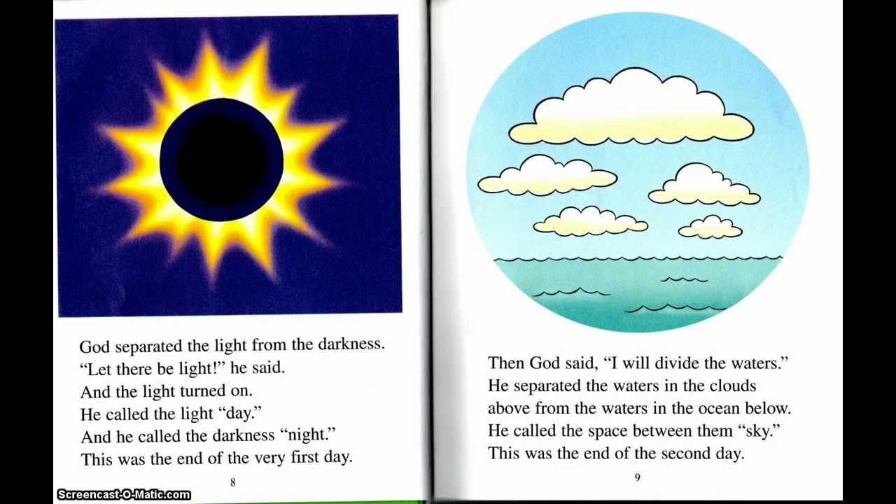 01 the beginner s bible story book children s bible stories genesis 1