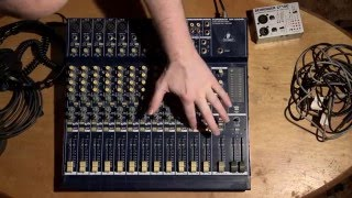 How to Use an Audio Mixer Board Tutorial Mixing