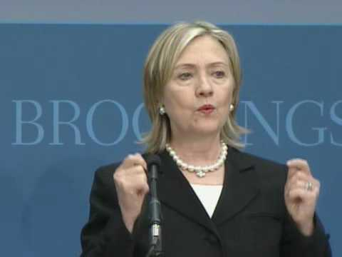 Secretary Clinton Addresses U.S. National Security Strategy at the Brookings Institution