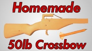 How to Make a Crossbow + Shooting Test