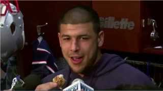 Aaron Hernandez Eating Chicken During Interview