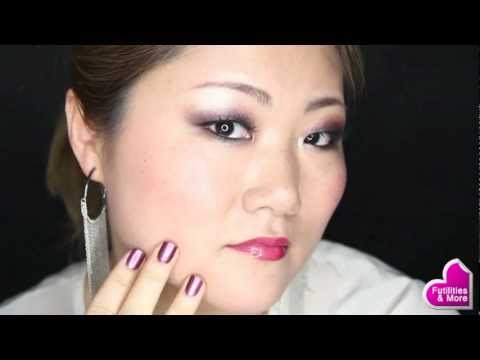Purple night look makeup tutorial - Sephora pro Lesson Palette for asian monolid