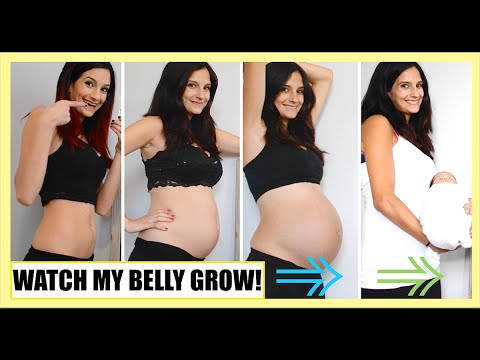 WATCH MY BELLY GROW! | 5-39 WEEKS OF PREGNANCY!
