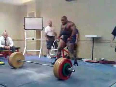 Johnnie Jackson second attempt 821 lbs deadlift Image 1