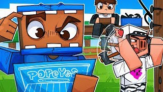 We Built A Popeye's Chicken For Sandwiches! - Minecraft!