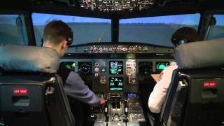 Flying Airbus A320: full flight video from the cockpit (part 2) - Baltic Aviation Academy