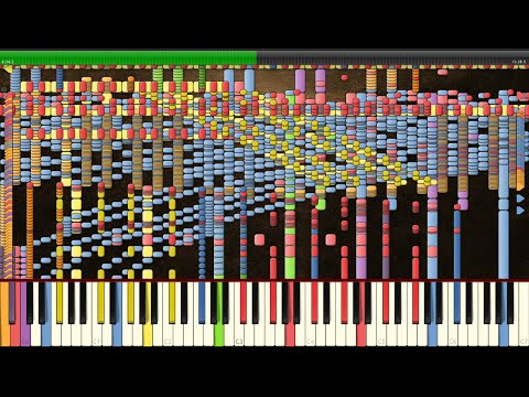 Synthesia: Vocaloid / Hatsune Miku - Rolling Girl | 130,000+ Notes | Black MIDI