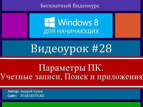 Видео #28. Учетные записи пользователей Windows 8
