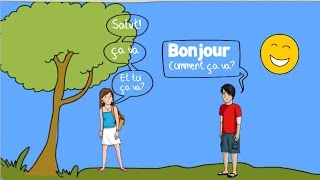 French Greetings Song for Children - Bonjour!