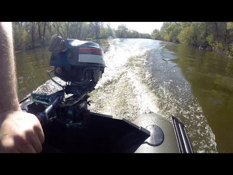 На Что Способен Лодочный Мотор Yamaha 25-ти Летней Выдержки и Обзор Лодки Скиф
