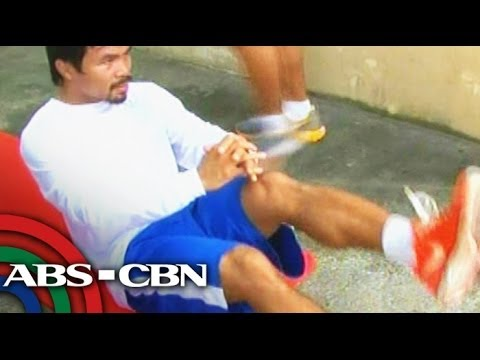 Pacquiao in tough training ahead of Bradley fight Image 1