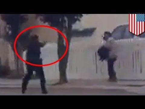 Salinas police shooting caught on camera: officers shoot man holding garden shears