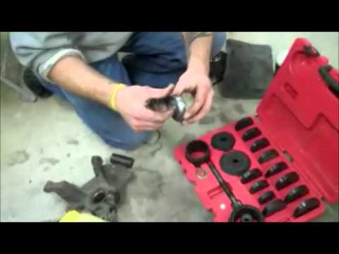 2003 Mazda Front Wheel Bearing Replacement (Press In Type Bearing)