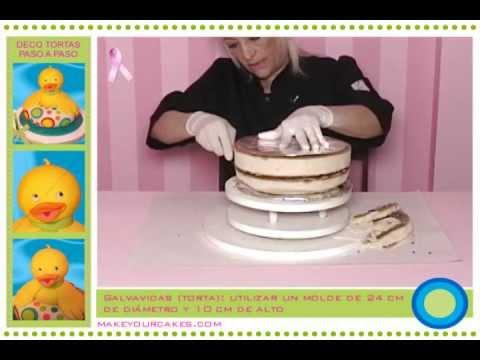 Tutorial de decoraci n de tortas c mo hacer una torta 3d for Como decorar una torta infantil