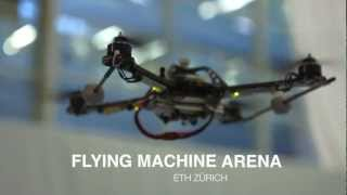 Quadrokopter-Drohnen in der Flying Machine Arena der ETH Zürich
