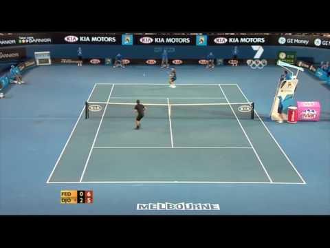[HL] Novak Djokovic vs. Roger Federer 2008 Australian Open [SF]