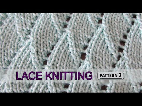 Knitting Speed Stitches Per Minute : Overlapping Waves Lace Knitting Pattern #2 - YouTube