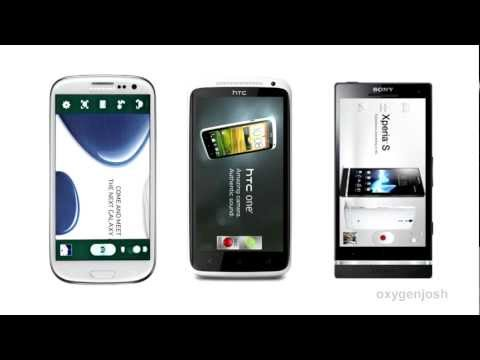 Samsung Galaxy SIII vs. HTC One X vs. Sony Xperia S Comparison