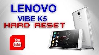 HARD RESET WIPE para celular Lenovo K5