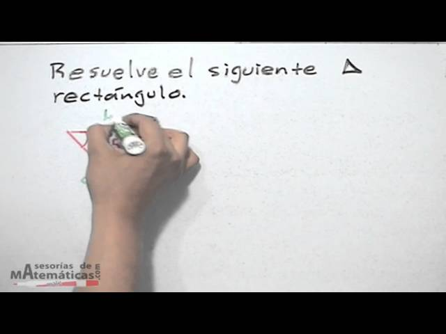 Resolver triangulos rectangulos con funciones trigonometricas - HD