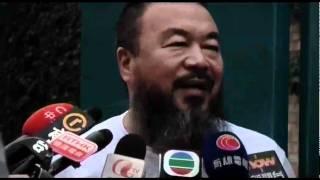BBC中文网视频:艾未未获假释后对媒体讲话