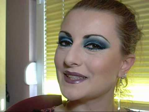 Arabic sexy blue makeup tutorial